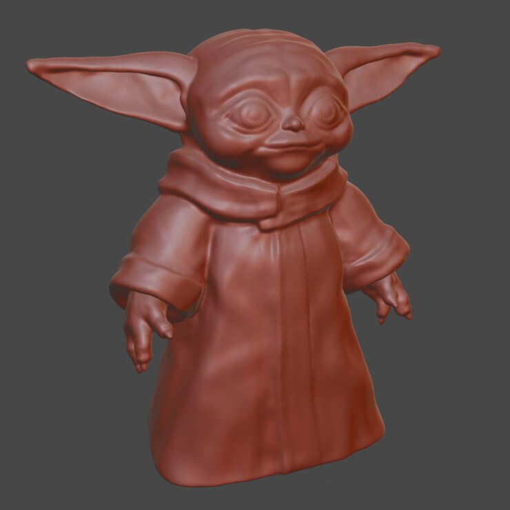 Baby Yoda 3D model for 3D printing
