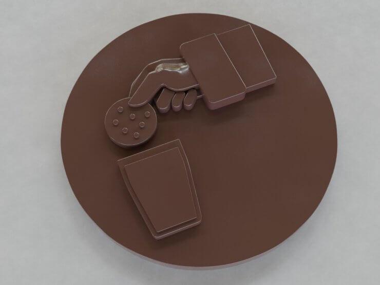Chocolate Figures - Cookie and Santa