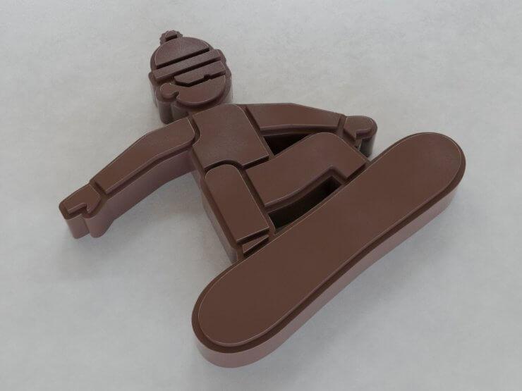 Chocolate Figures - Snowboard v2 (outwards)