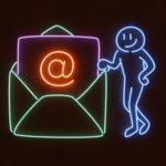 Mailing Neon Illustration