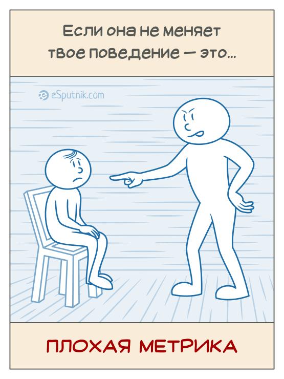 esputnik caricature - bad metric