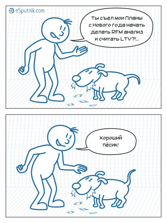 esputnik comic - dog eat plans
