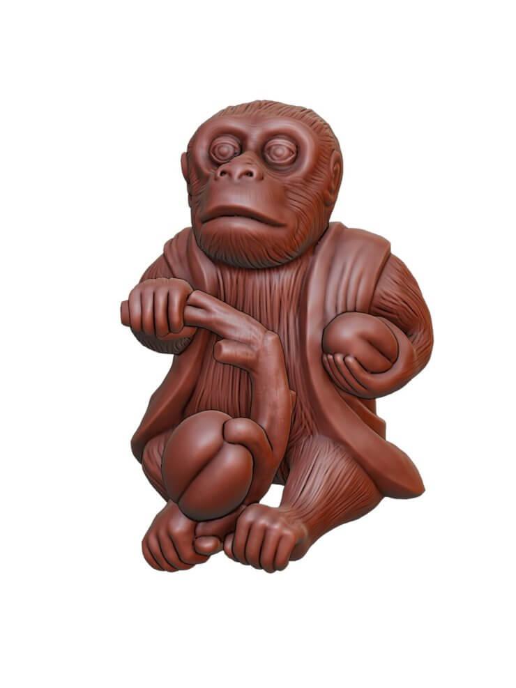 Monkey 3D model for 3D printing (1)