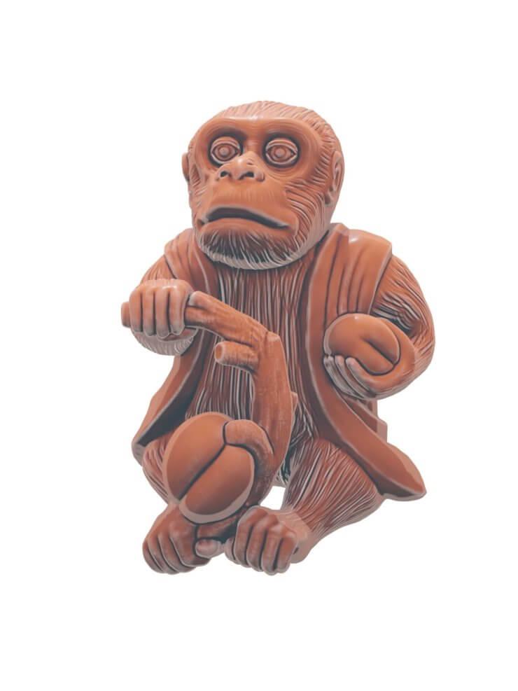 Monkey 3D model for 3D printing (2)