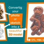 Converting photo or sketch to 3D model