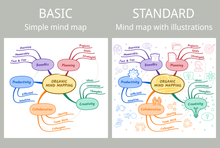 Organic Mind Mapping Basic vs Standard