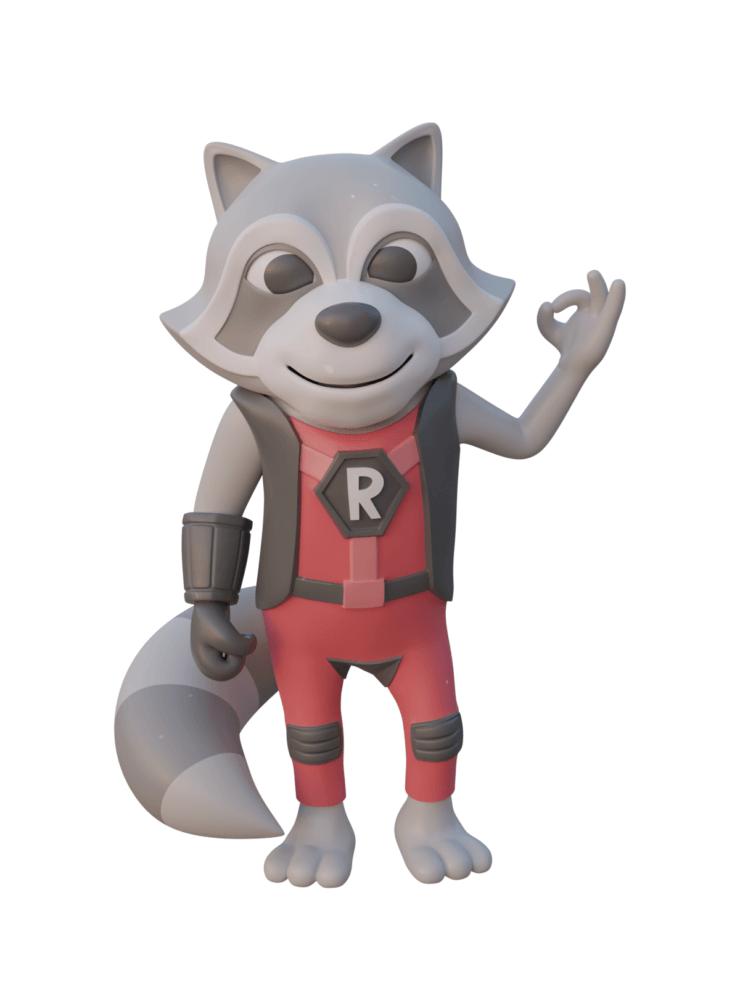 Refactoring Raccoon 3D OK - Lego Plastic