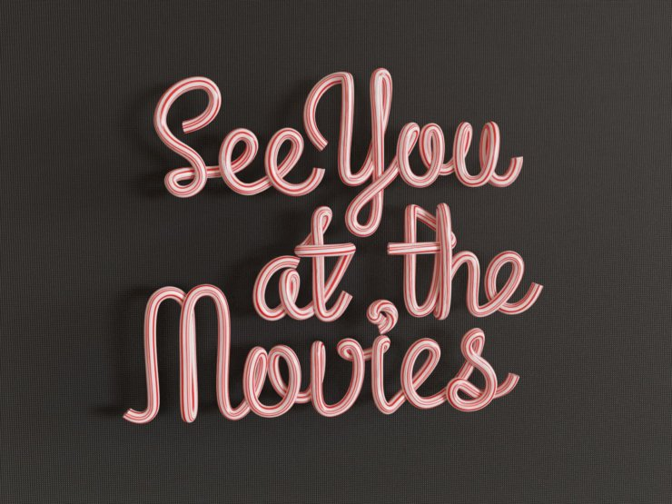 See You at the Movies (3D pipe text, v4)