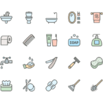 Set of Hygiene line icons