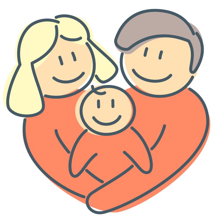 Heart shaped family