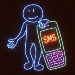 SMS Neon Illustration