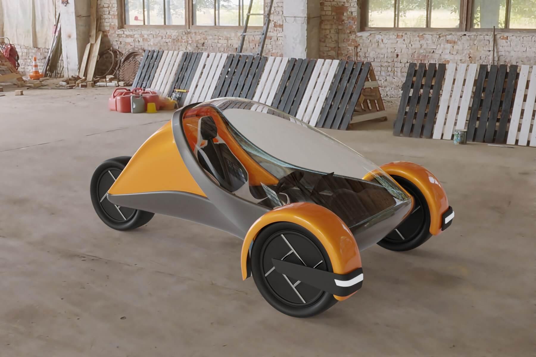 Futuristic Trike Render 01
