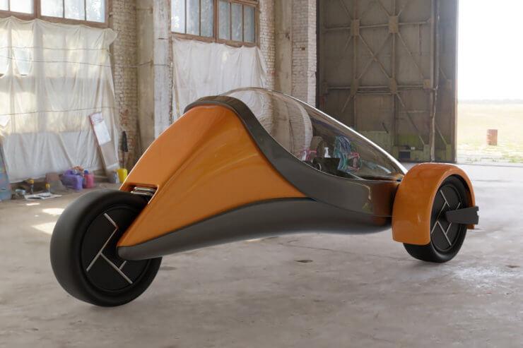 Futuristic Trike Render 02