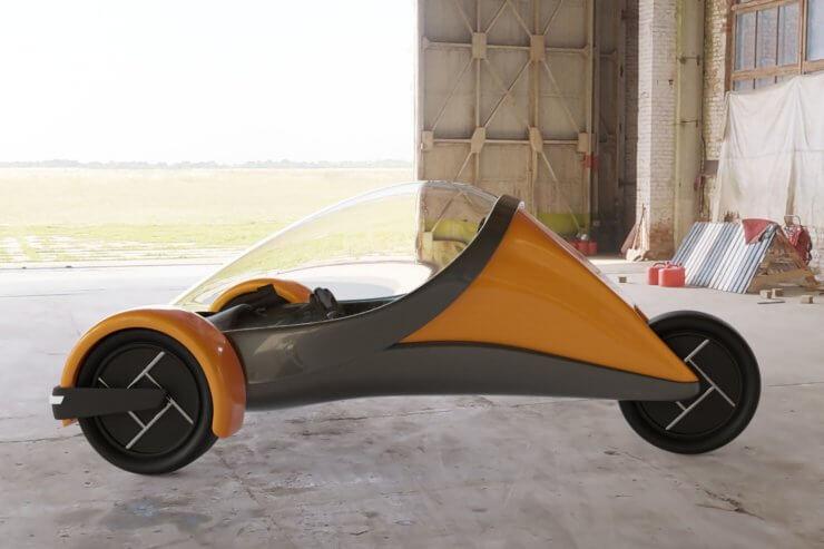 Futuristic Trike Render 03