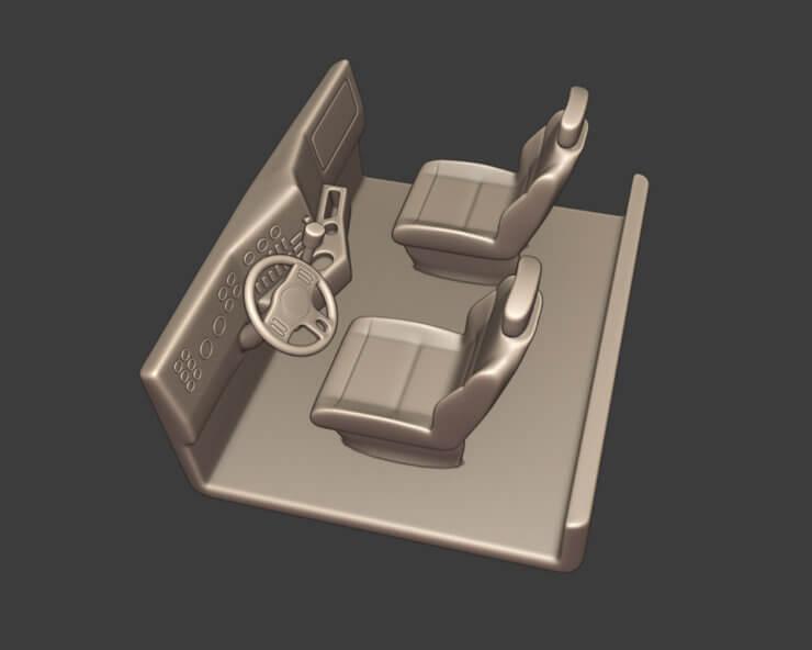 Truck Cab (inner, seats)