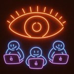 Web Tracking Neon Illustration